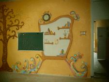 Роспись стен, аэрография, барельеф