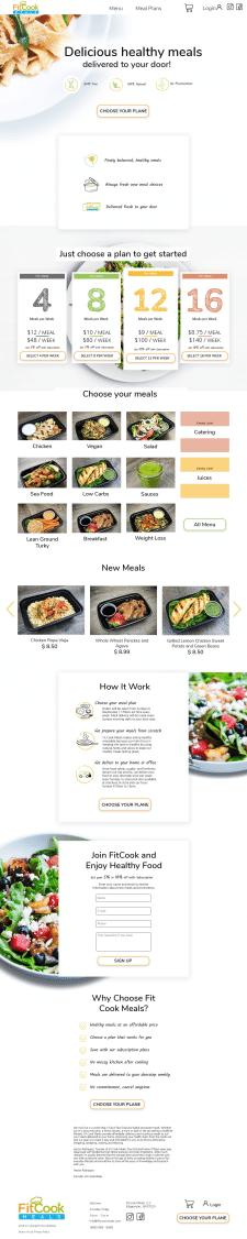 Главная страница сайта по доставке еды