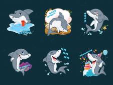 Акула_стикеры для Telegram