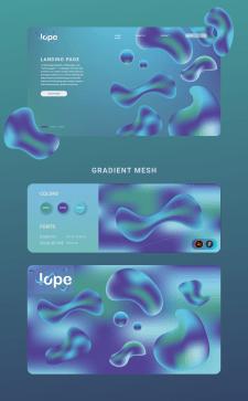 Landing + gradient mesh