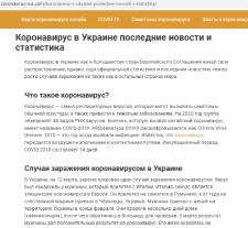 Коронавирус в Украине последние новости и статисти