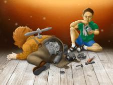 Иллюстрация (Карлсон и мальчик)