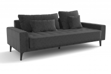 Sofa canape fixe 4 places grey