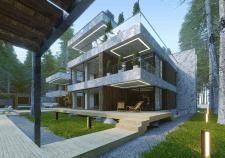 Проект и визуализация дома в современном стиле