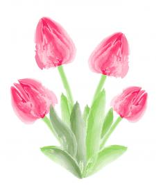 Water color digital flowers