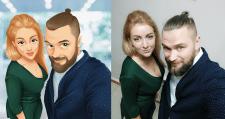 Мультяшный портрет пары