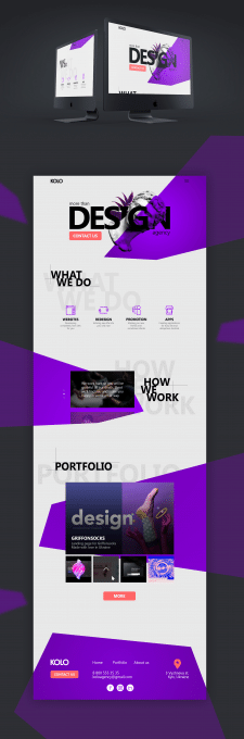 Web agency landing page