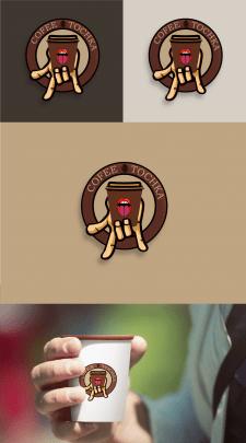 Логотип для кофейни в рокерском стиле