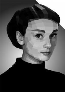 Плоскостной портрет Одри Хепберн