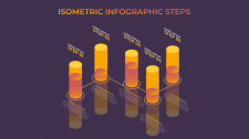 Isometric infographic step