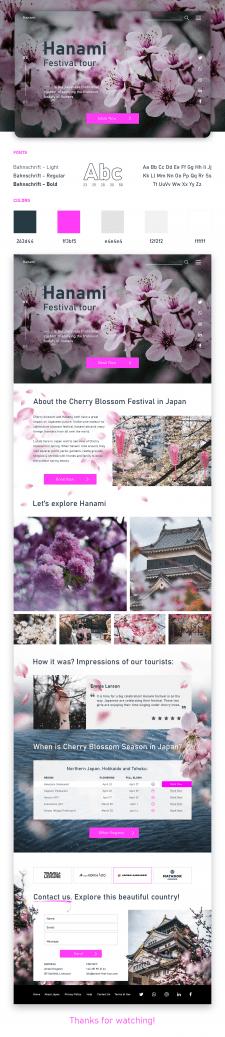 """Сайт путешествий """"Hanami"""" / Главная страница"""