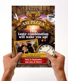 Дизайн листовки для сети пиццерий