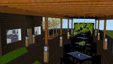 Літня тераса у ресторані