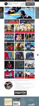 Дизайн и верстка сайта компании Sport TRUST
