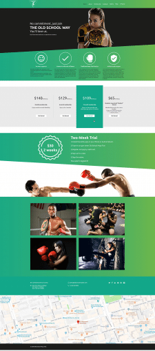Thai boxing template
