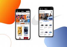 Дизайн мобильного магазина Nike (В процессе)