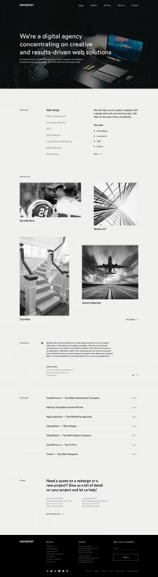 Главная страница студии