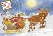 Иллюстрация новогодней открытки