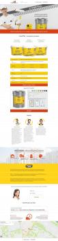 Верстка landing page по макету PSD