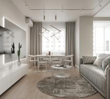 Дизайн интерьера двухуровневой квартиры. Киев