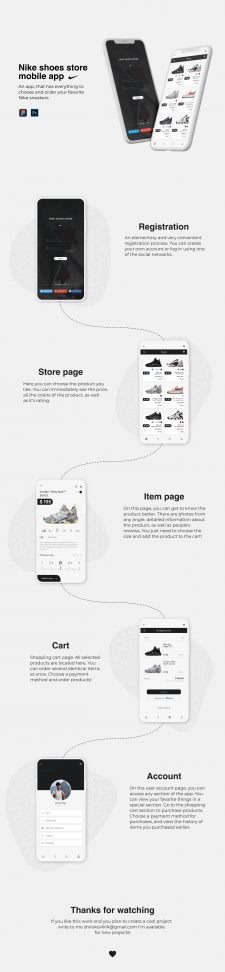 Nike Shoes Store Mobile App