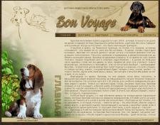 макет сайта компании по доставке животных