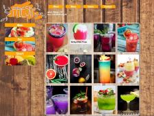 сайт-визитка для кафе, раздел меню; html верстка