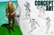 Концепт Арт Персонажа/ Concept art Character