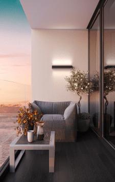 Визуализация места отдыха на балконе