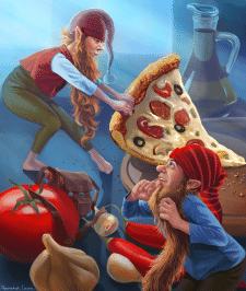 Гномы и пицца