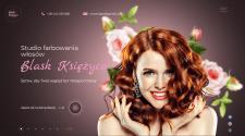 Дизайн баннера для студии покраски волос в Варшаве