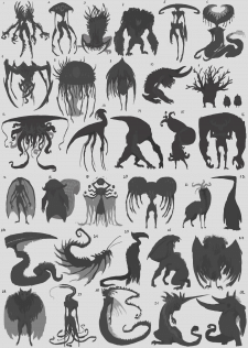 Силуэты существ