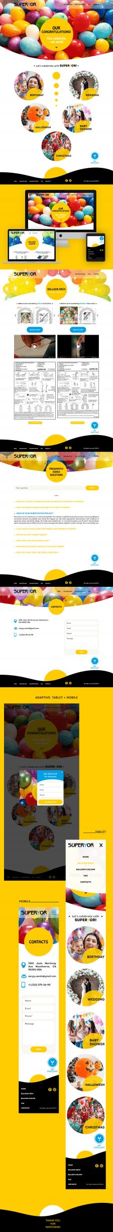 Дизайн и front-end для Superyor
