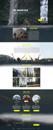 """Landing page - """"THE MOUNTAIN"""""""