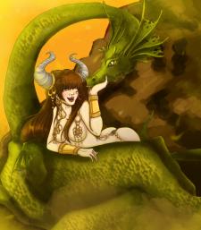 просто иллюстрация дракон