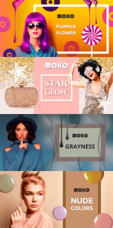 Создание баннеров для бренда гель-лаков MOKO