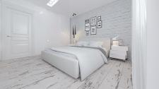 Дизайн спальни белый лофт