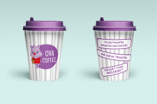 «OVA COFFEE» макет стаканчиков-4