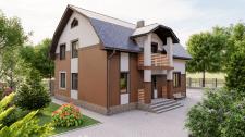 Проект и визуализация жилого дома