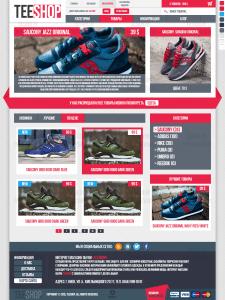 """Дизайн интернет-магазина обуви """"TeeShop"""""""