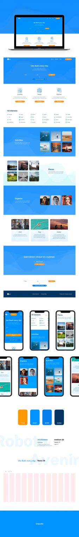 Web design. Landing. Bush