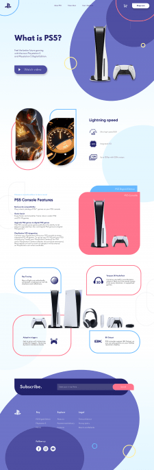 PS5 landing page