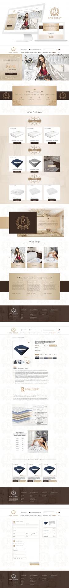 Дизайн сайта для Royal Therapy