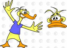 Персонаж утка