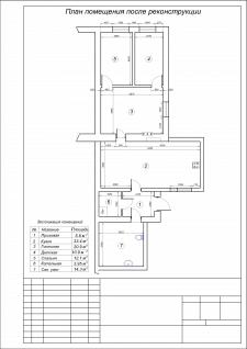 План жилого помещения после реконструкции