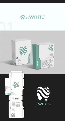 Лого + упаковка / полоски для отбеливания зубов /