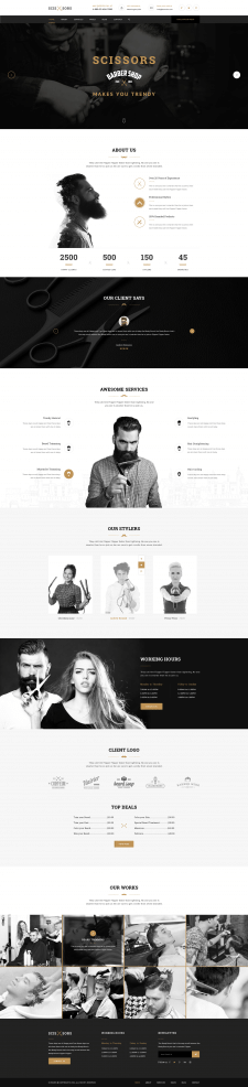 SCISSORS - SALON & HAIR STYLING PSD TEMPLATE