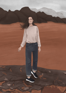 Иллюстрация девушки