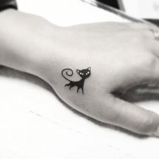 Тату кошечка tattoo kitty