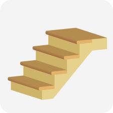 лестница, иконка для строительного калькулятора
